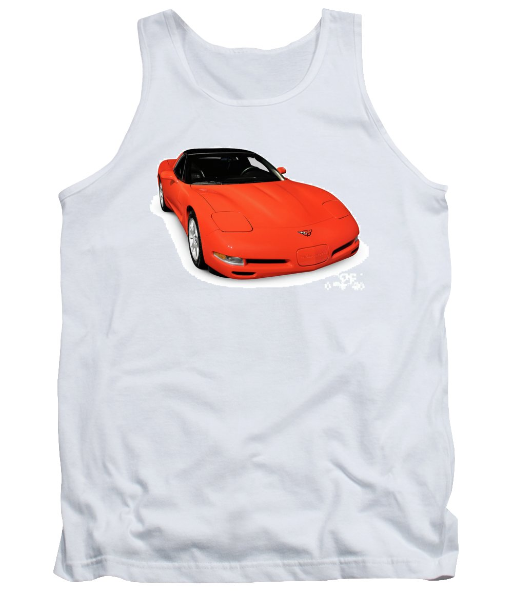 Chevrolet Tank Top featuring the photograph 1997 Chevrolet Corvette C5 Coupe by Oleksiy Maksymenko