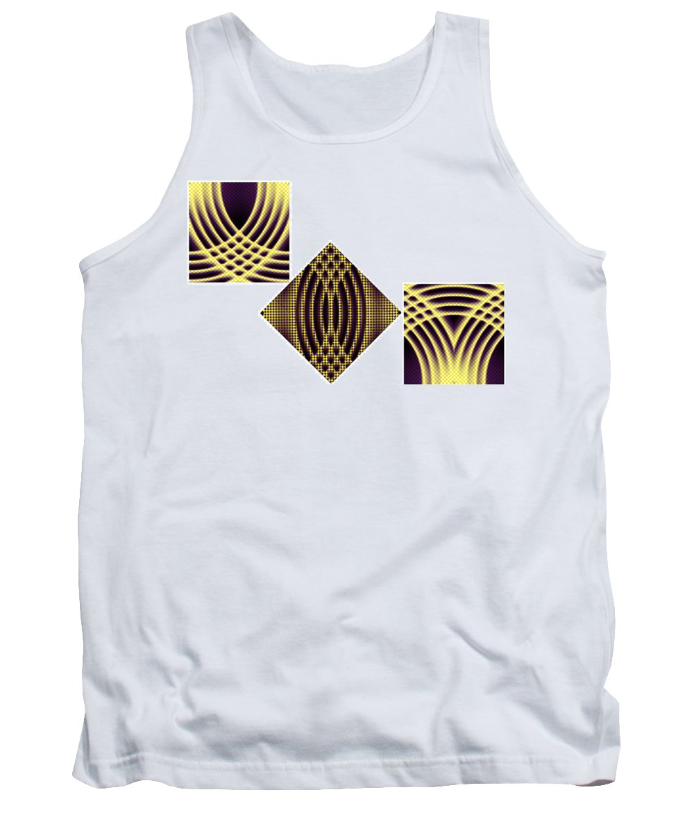 3 Tank Top featuring the painting 3 Square by Christopher Gaston