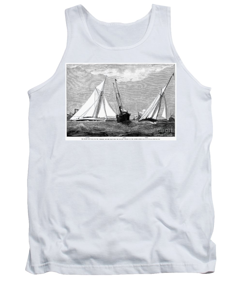 1887 Tank Top featuring the photograph Americas Cup, 1887 by Granger