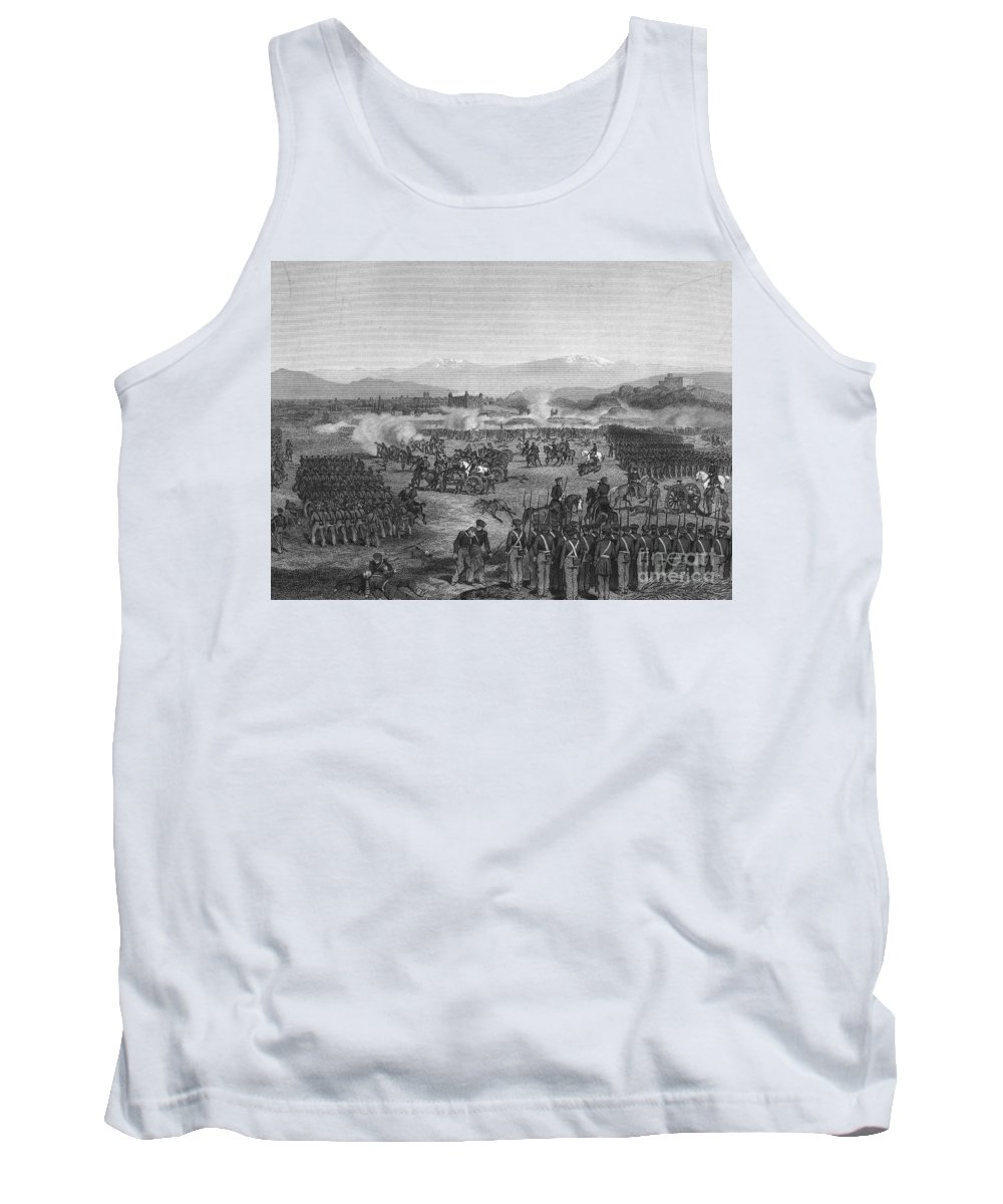 1847 Tank Top featuring the photograph Battle Of Molino Del Rey by Granger