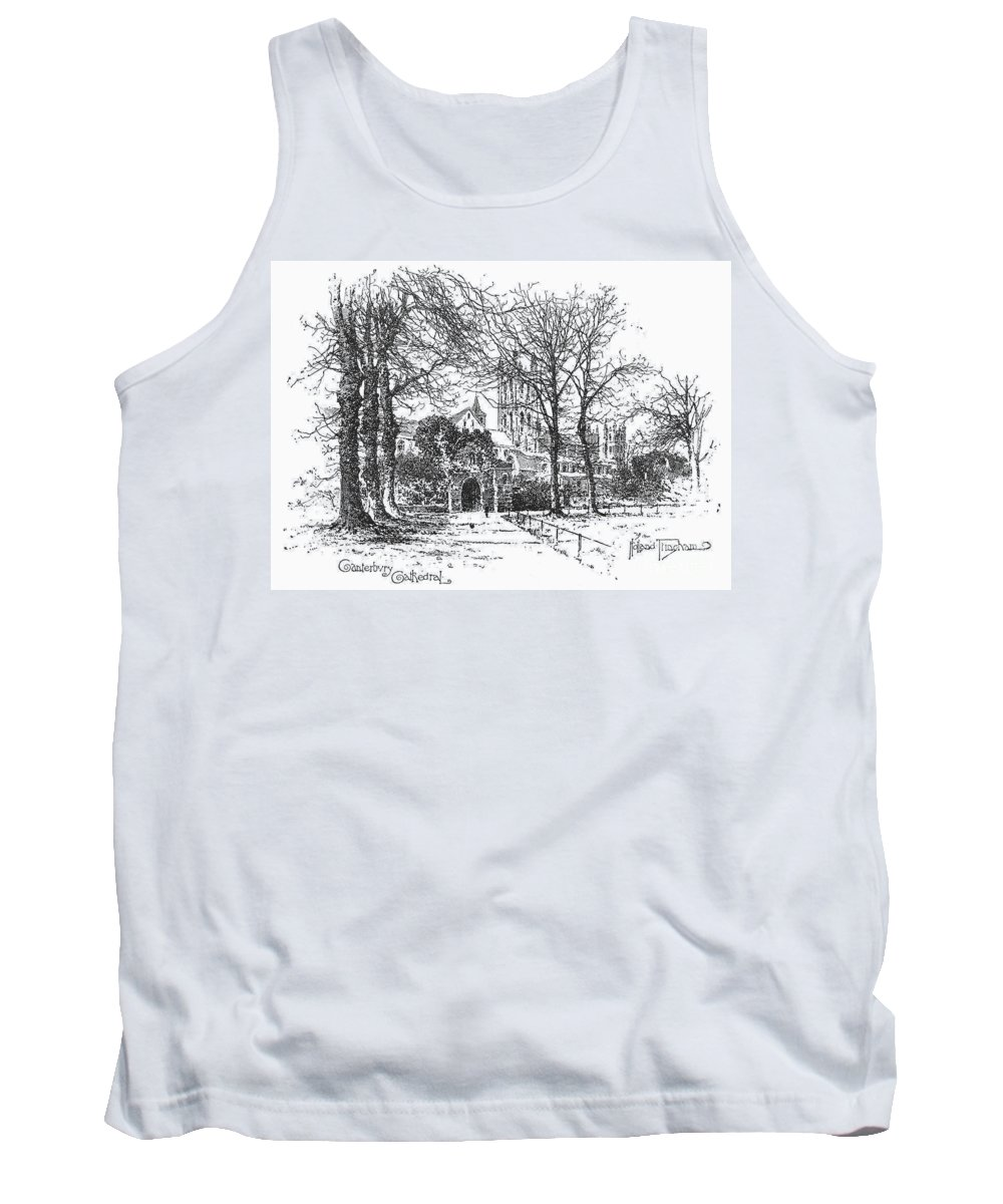 1896 Tank Top featuring the photograph Canterbury Cathedral by Granger