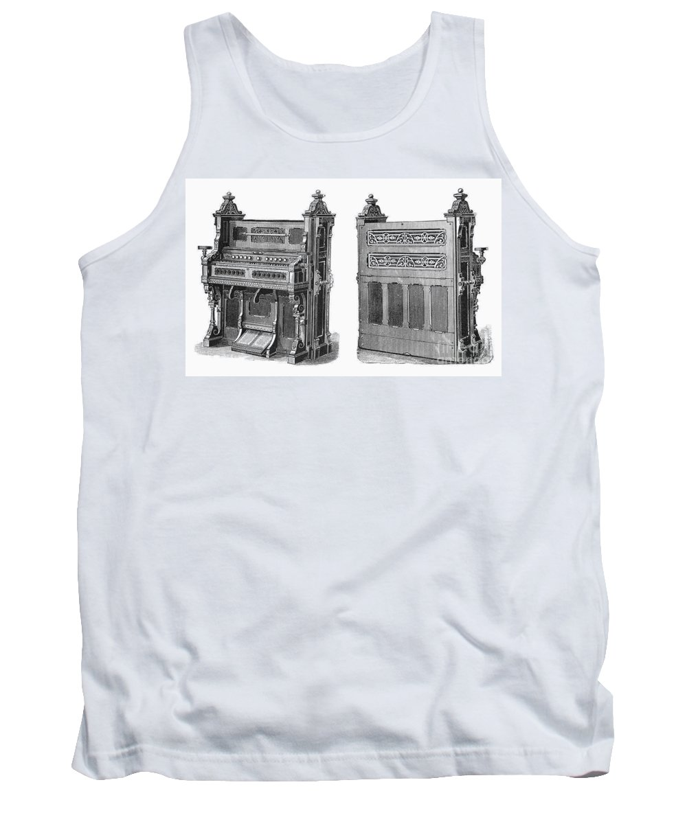 19th Century Tank Top featuring the photograph Chapel Organ, 19th Century by Granger