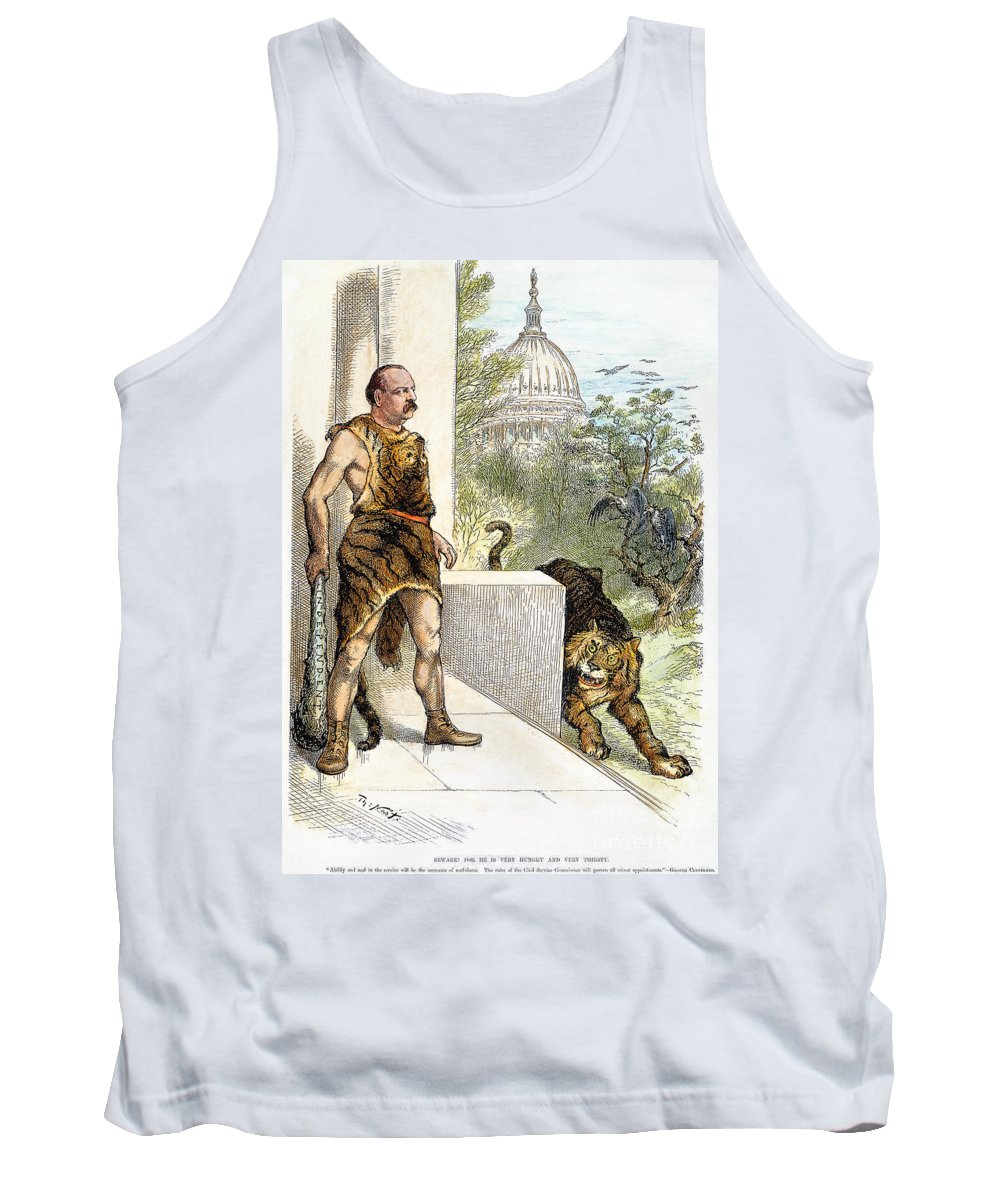 1884 Tank Top featuring the photograph Cleveland Cartoon, 1884 by Granger