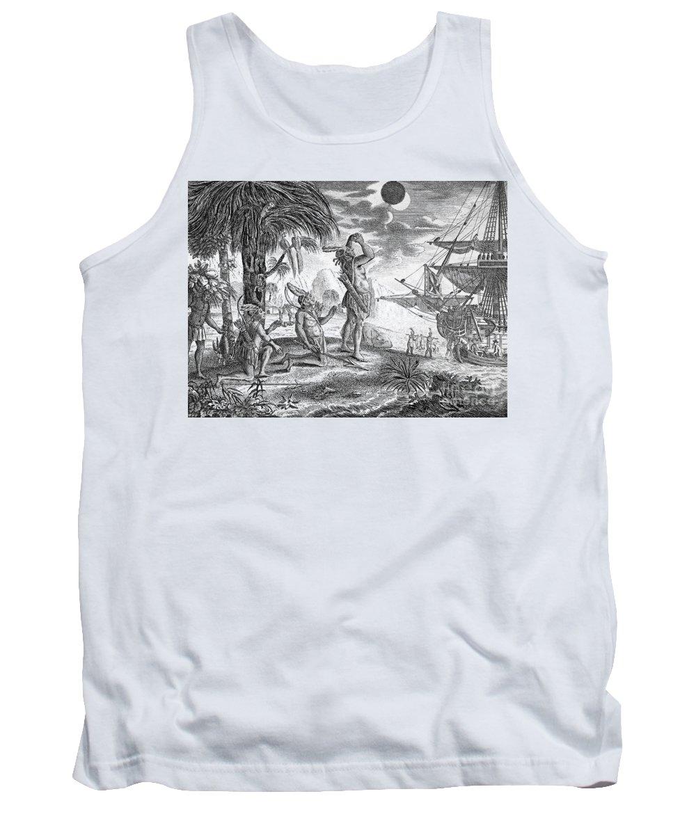 1504 Tank Top featuring the photograph Columbus: Jamaica, 1504 by Granger