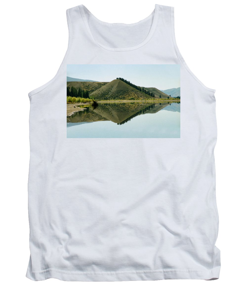 Reflections Tank Top featuring the photograph Cromwell Dam Reflections by Carole-Anne Fooks