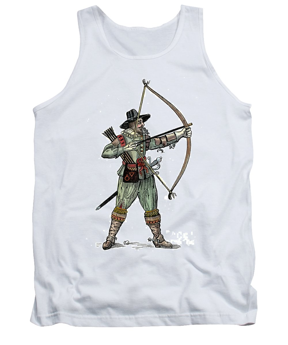 1634 Tank Top featuring the photograph English Archer, 1634 by Granger