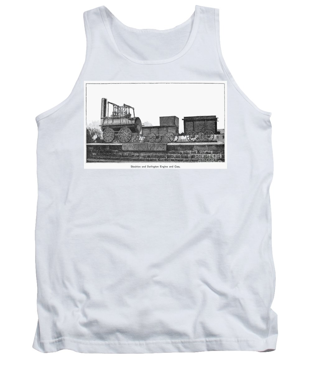 1825 Tank Top featuring the photograph English Locomotive, 1825 by Granger
