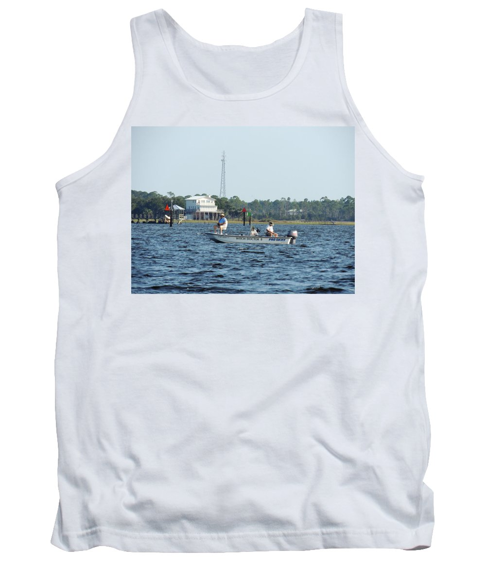 Fishing Tank Top featuring the photograph Fishing The Flats by Marilyn Holkham