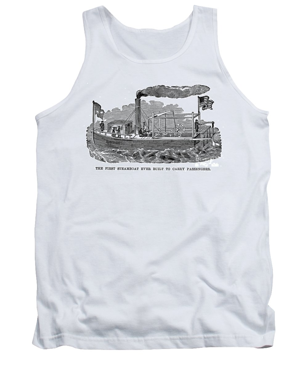 1790 Tank Top featuring the photograph Fitchs Steamboat, C1790 by Granger