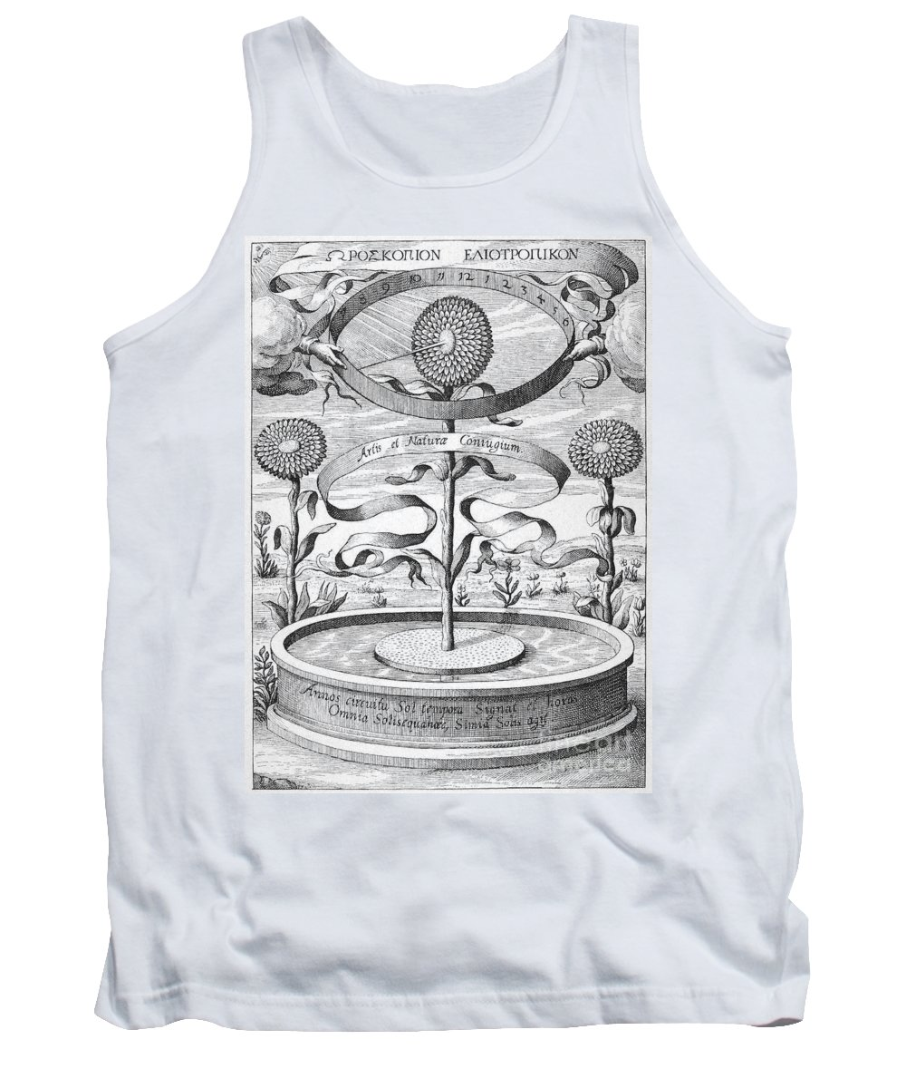 1643 Tank Top featuring the photograph Flower Clock, 1643 by Granger