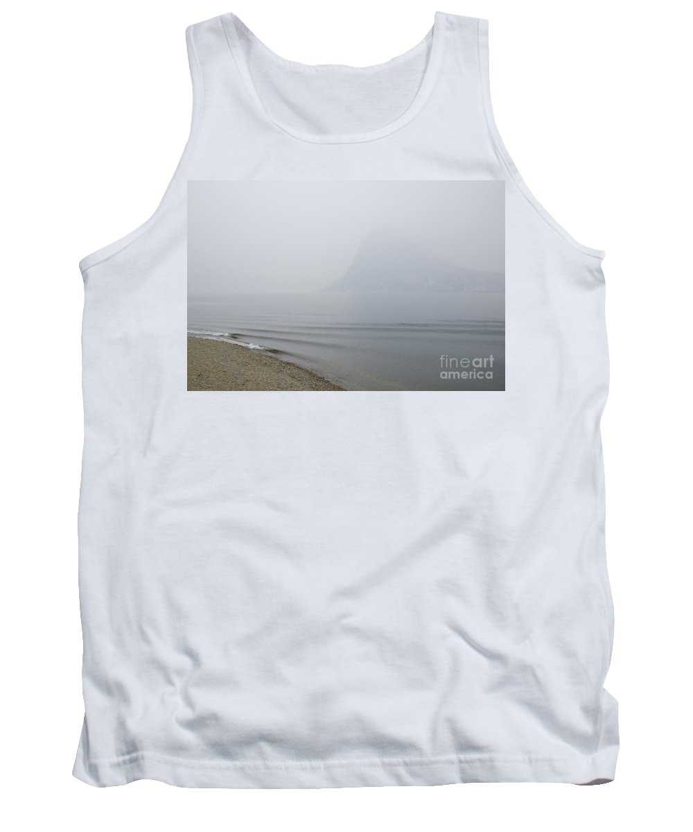 Beach Tank Top featuring the photograph Foggy Lake by Mats Silvan