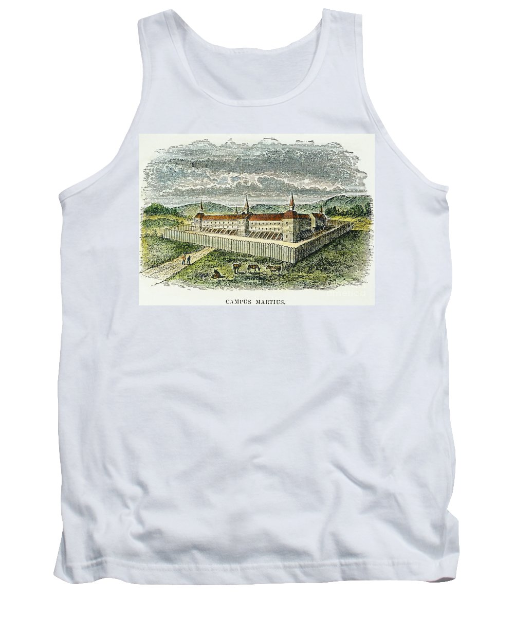 1790 Tank Top featuring the photograph Fort Marietta, Ohio, C1790 by Granger