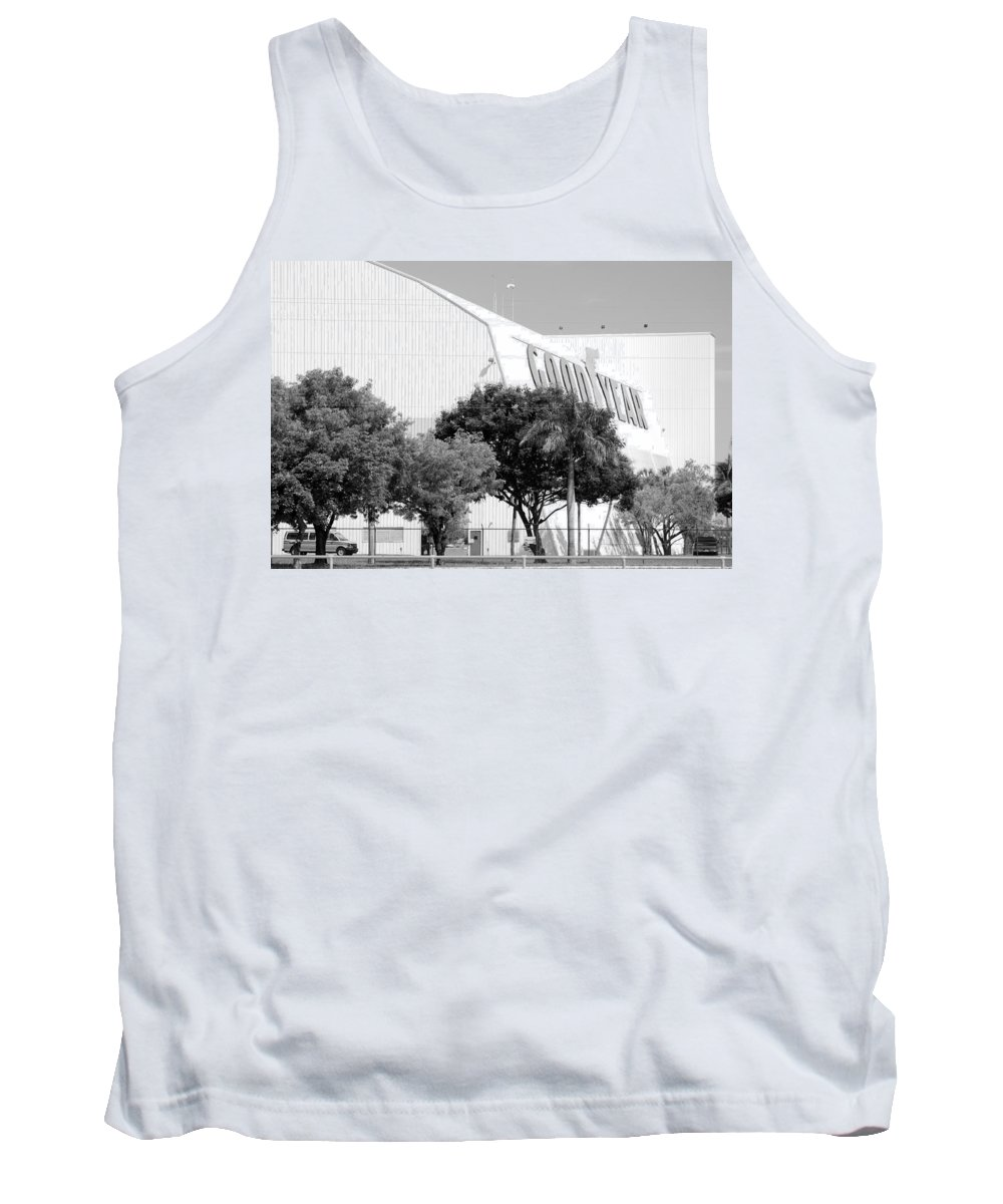 Good Year Tank Top featuring the photograph Good Year Blimp Hanger by Rob Hans
