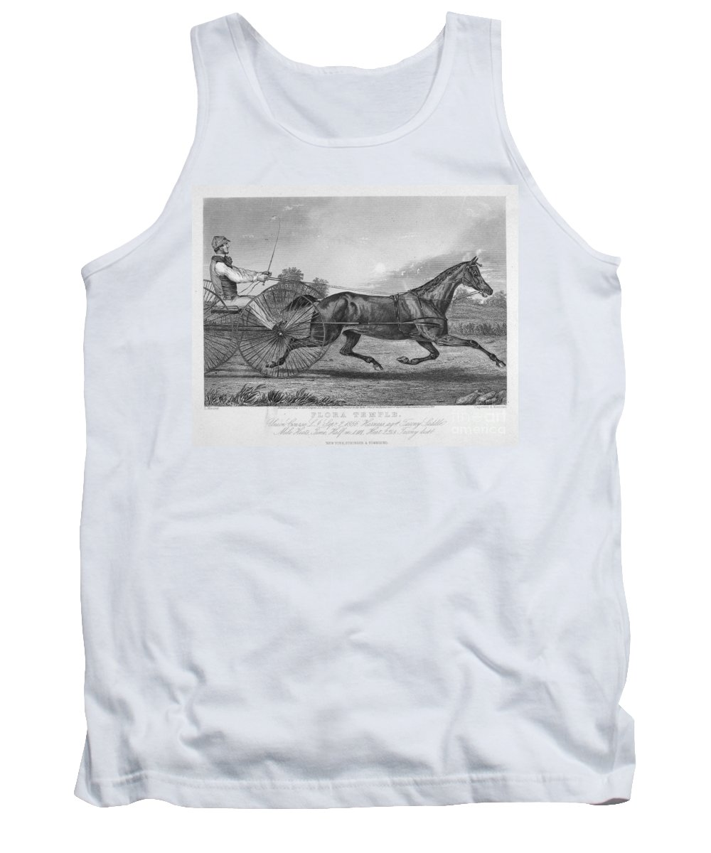 1857 Tank Top featuring the photograph Horse Racing, 1857 by Granger