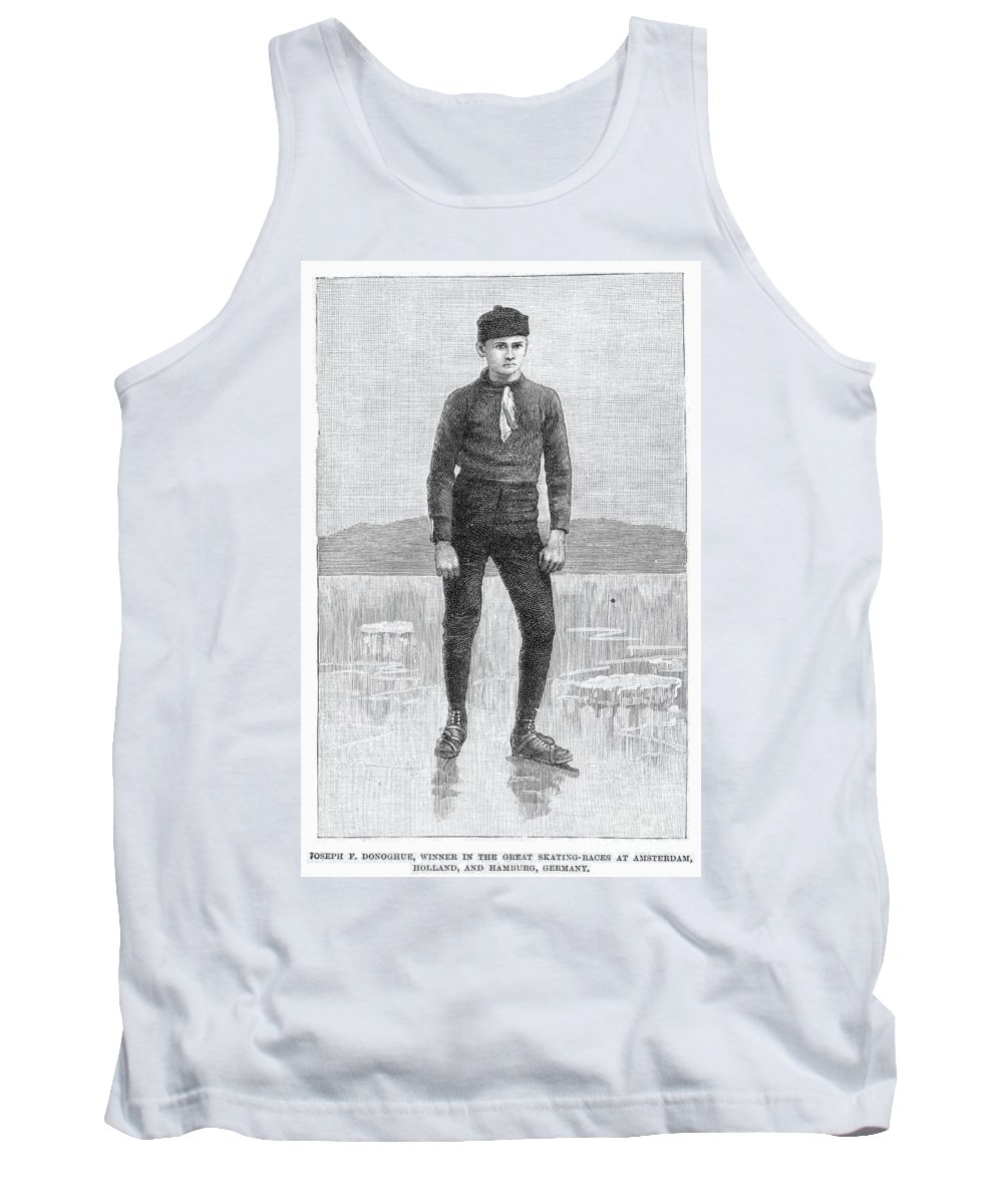 1880 Tank Top featuring the photograph Ice Skater, 1880 by Granger