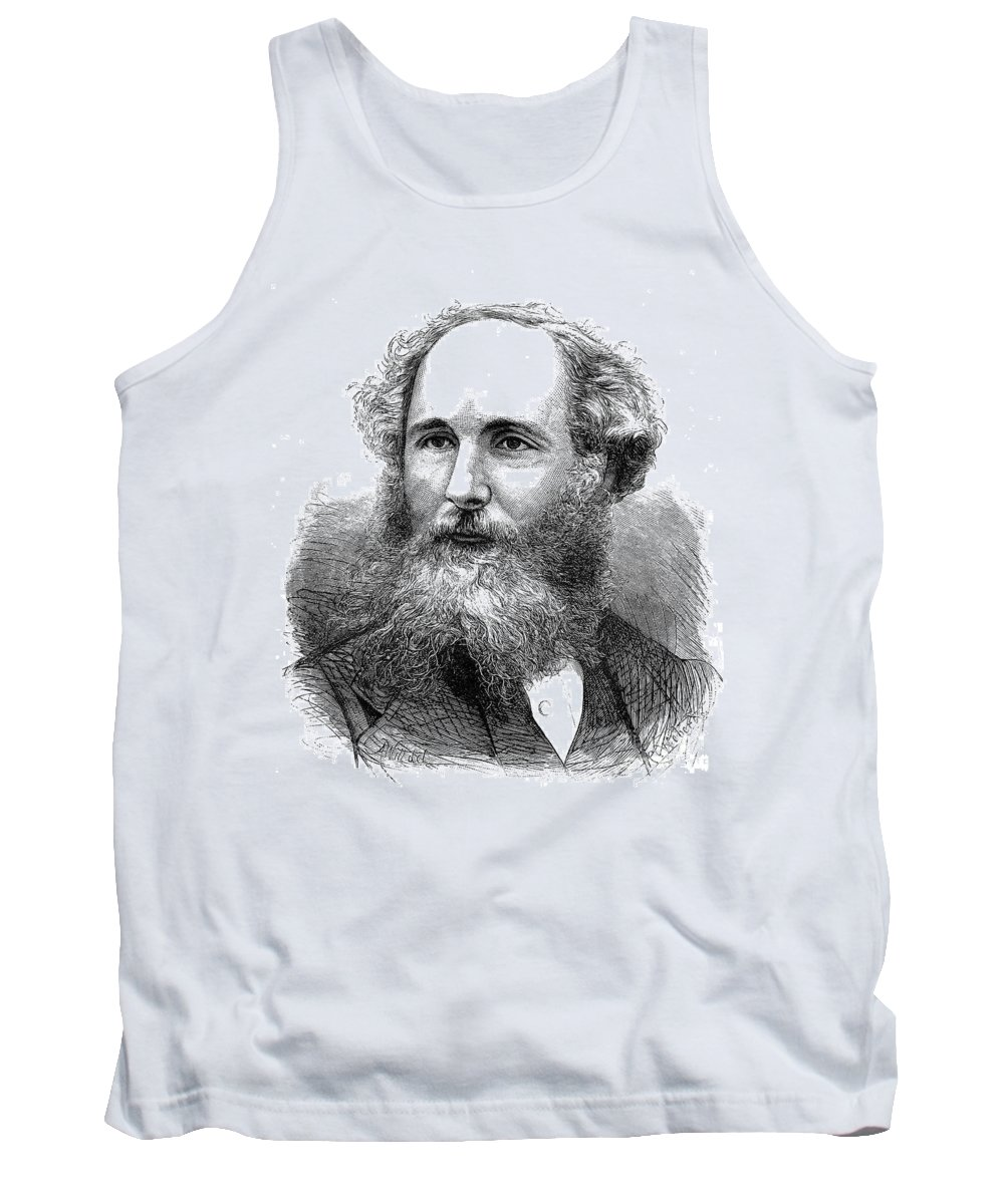 19th Century Tank Top featuring the photograph James Clerk Maxwell by Granger