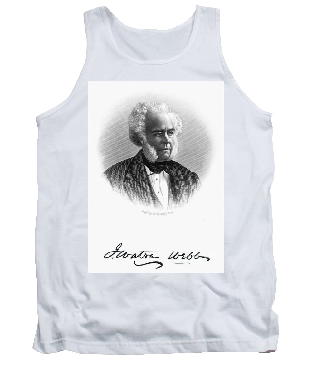 19th Century Tank Top featuring the photograph James W. Webb (1802-1884) by Granger