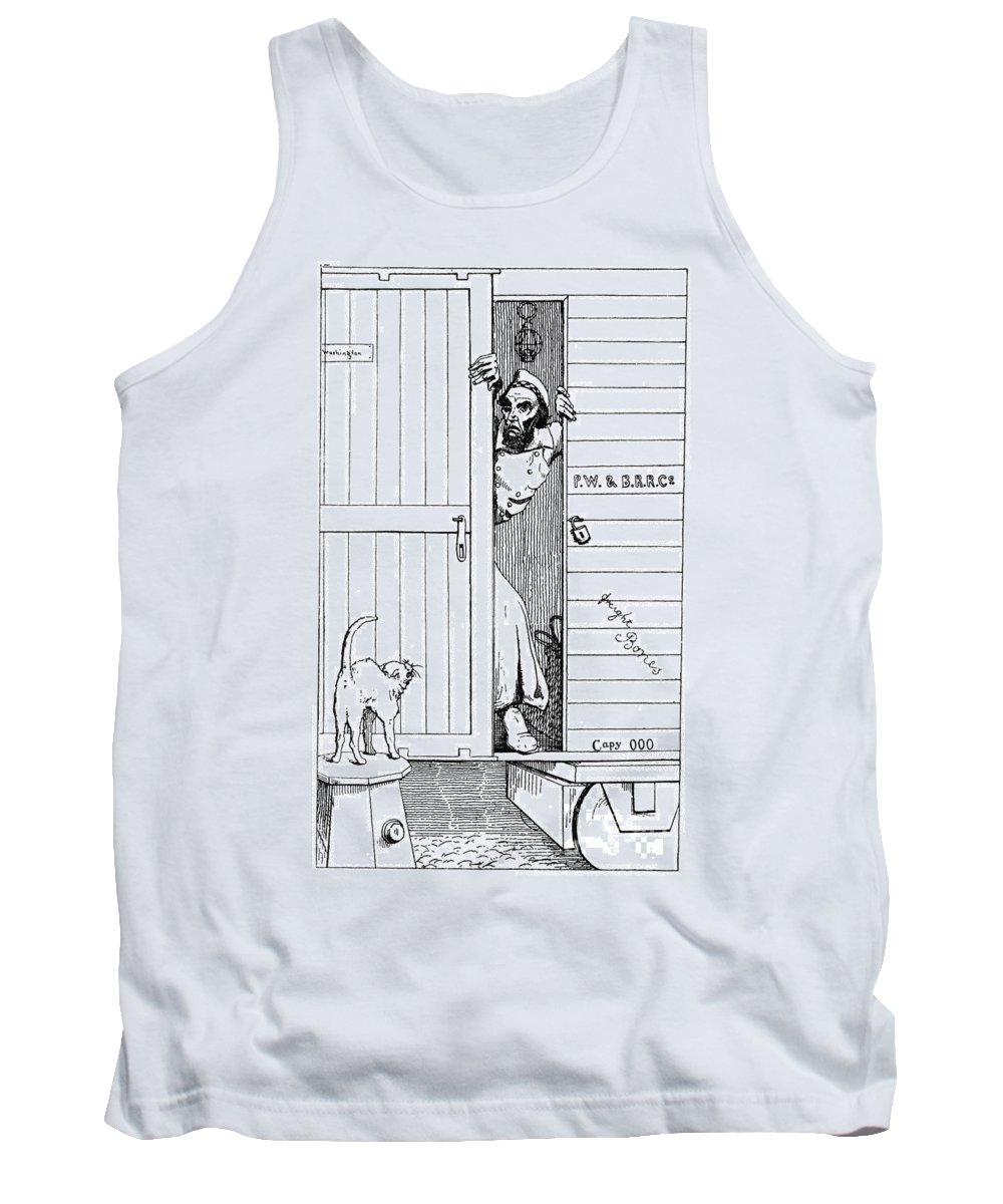 1863 Tank Top featuring the photograph Lincoln Cartoon, 1863 by Granger