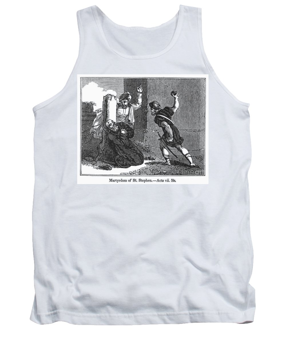 30s Tank Top featuring the photograph Martyrdom Of St. Stephen by Granger