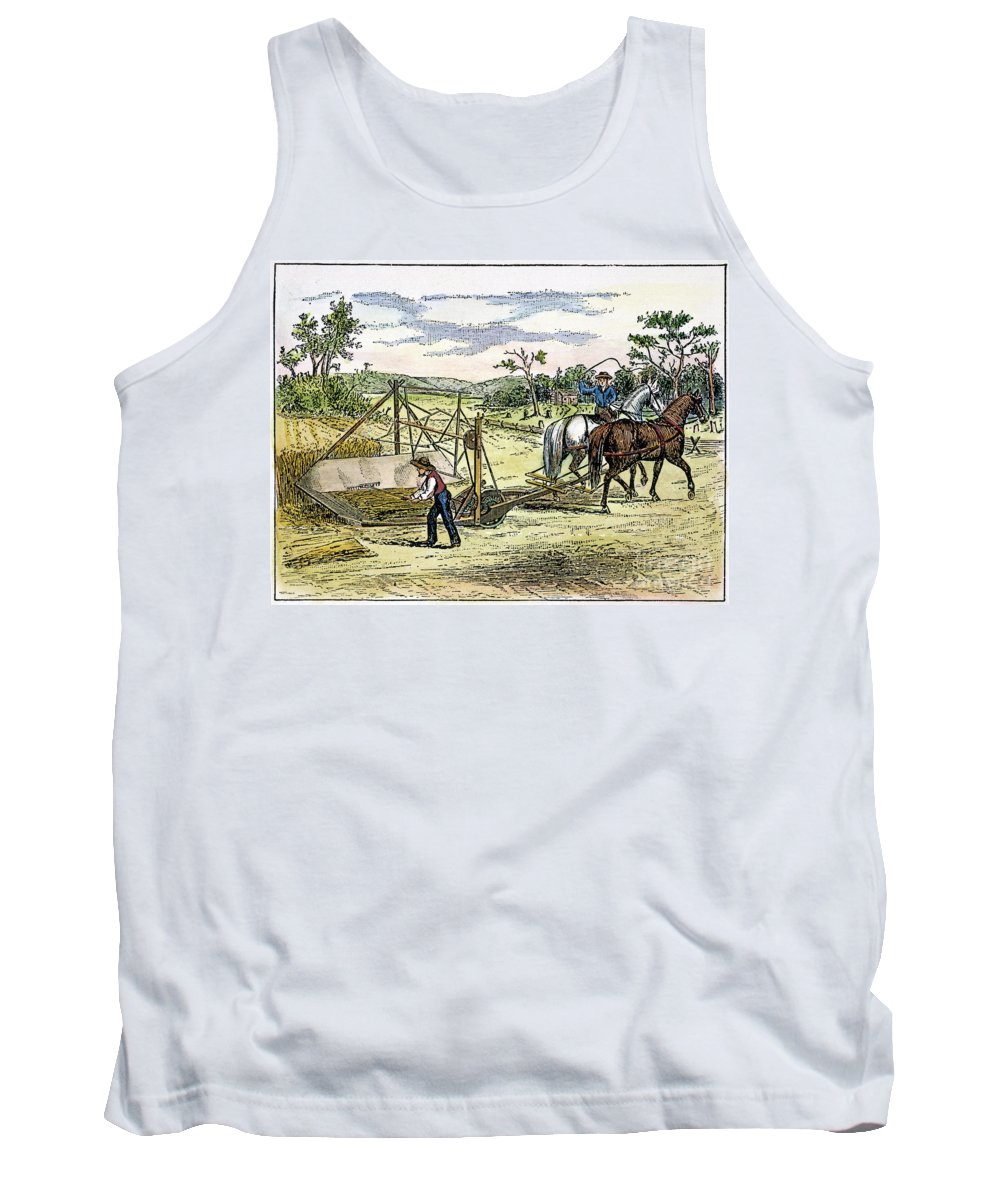 1834 Tank Top featuring the photograph Mccormicks Reaper, 1834 by Granger