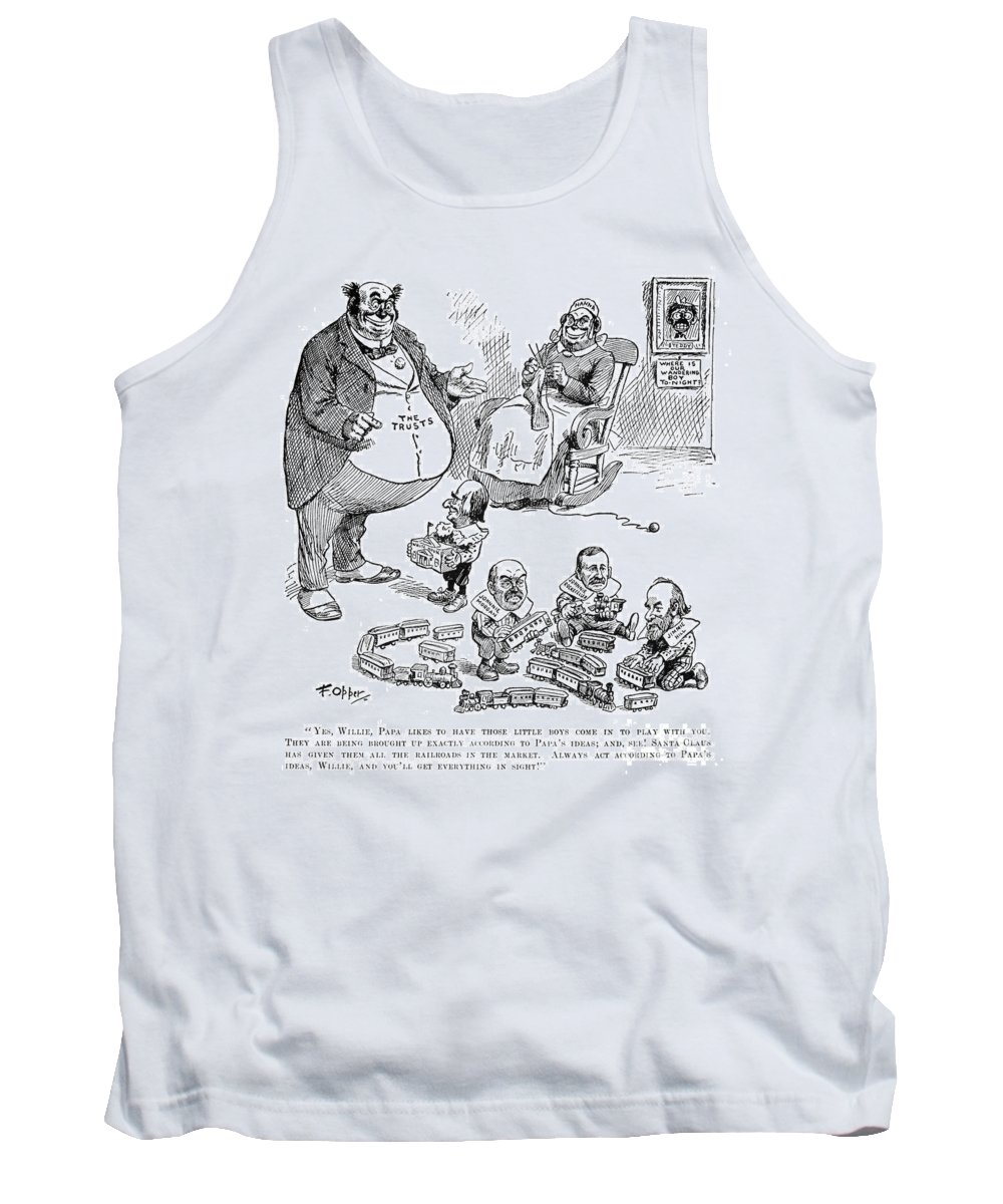 1900 Tank Top featuring the photograph Mckinley Cartoon, 1900 by Granger