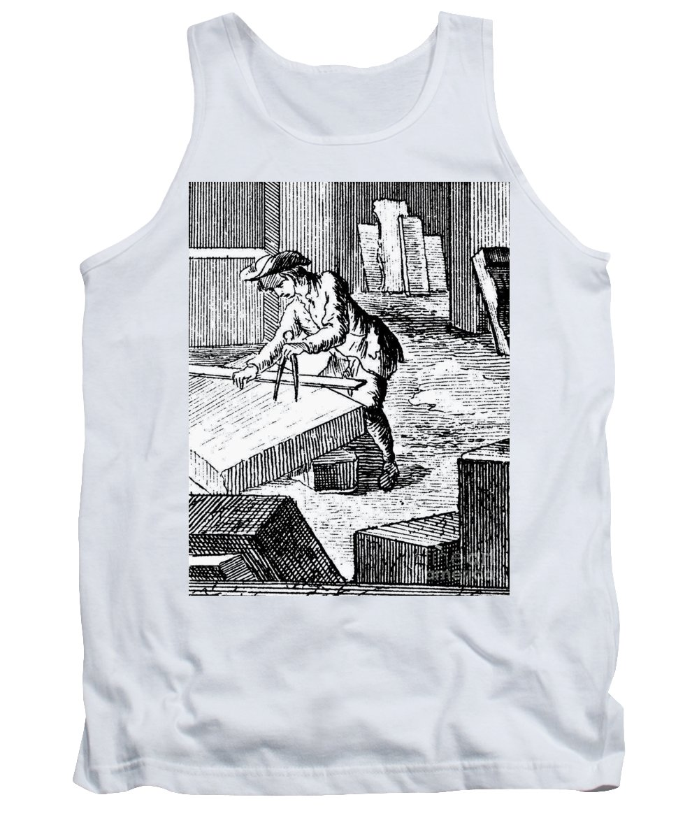 18th Century Tank Top featuring the photograph Measuring & Marking Stone by Granger