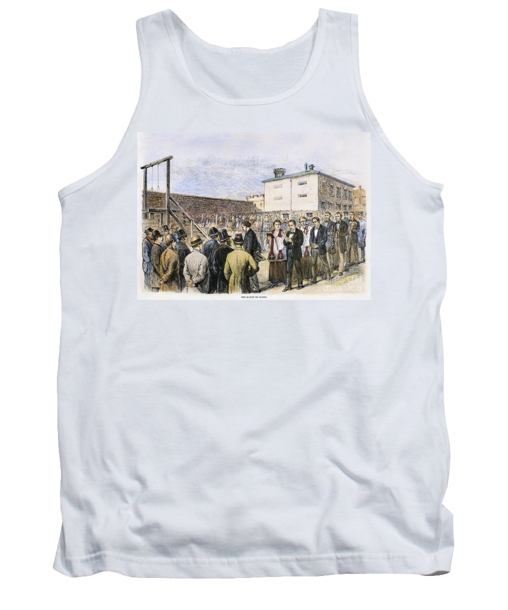 1877 Tank Top featuring the photograph Molly Maguires Executions by Granger