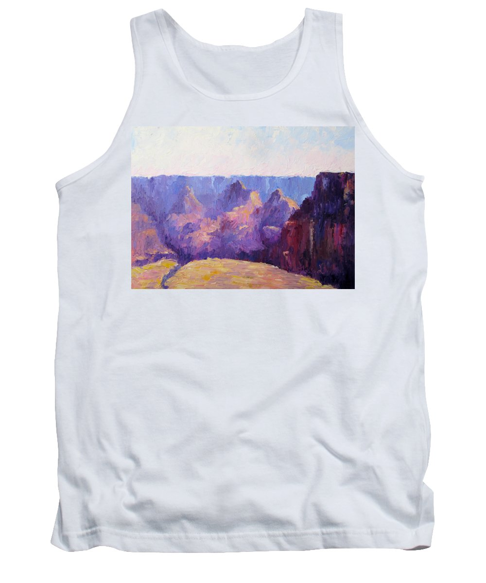 Grand Canyon Tank Top featuring the painting Morning Light by Terry Chacon