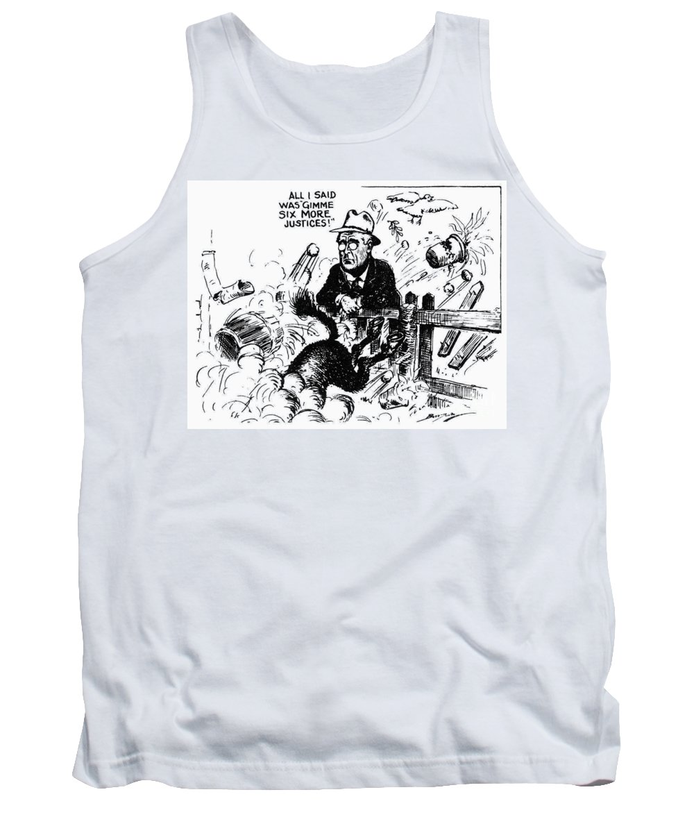 1937 Tank Top featuring the photograph New Deal: Supreme Court by Granger