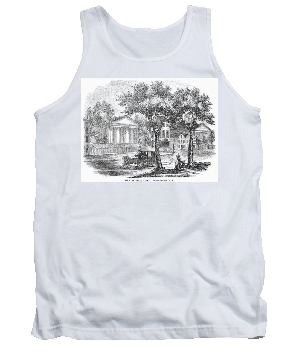 1853 Tank Top featuring the photograph New Hampshire: Portsmouth by Granger