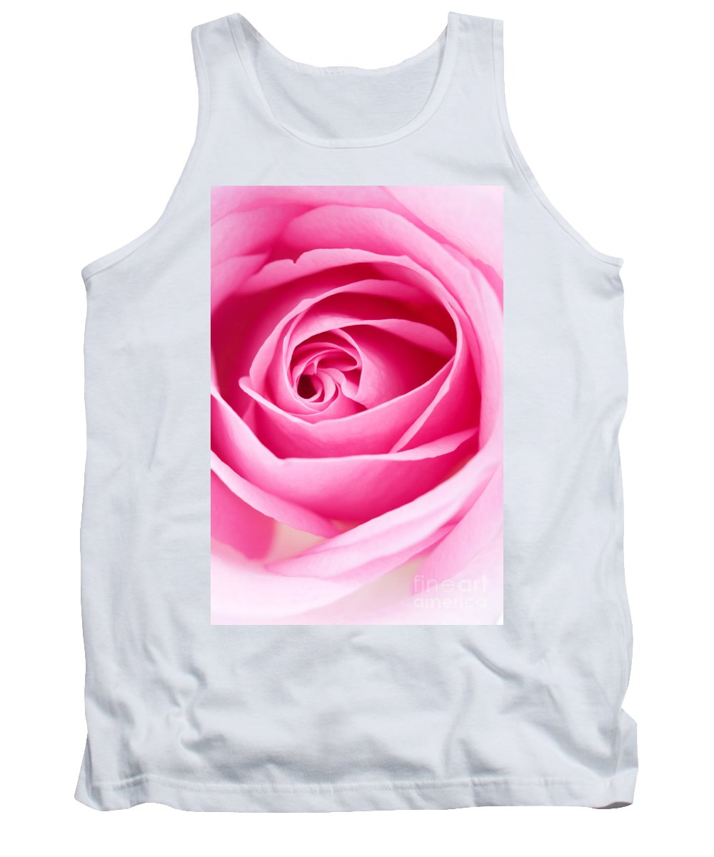 Kamo Tank Top featuring the photograph Pink Rose by Kati Finell