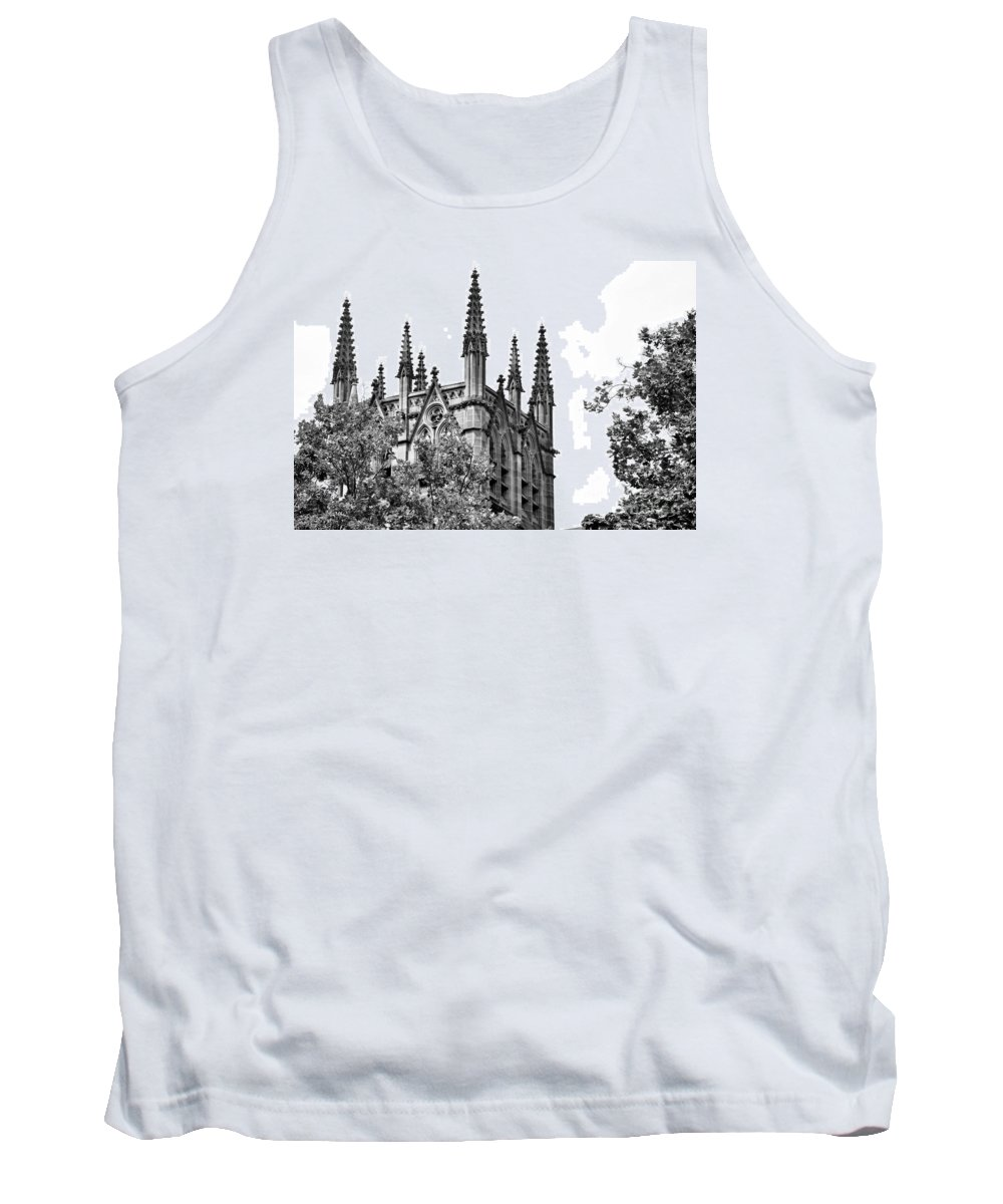 Photography Tank Top featuring the photograph Pinnacles Of St. Mary's Cathedral - Sydney by Kaye Menner