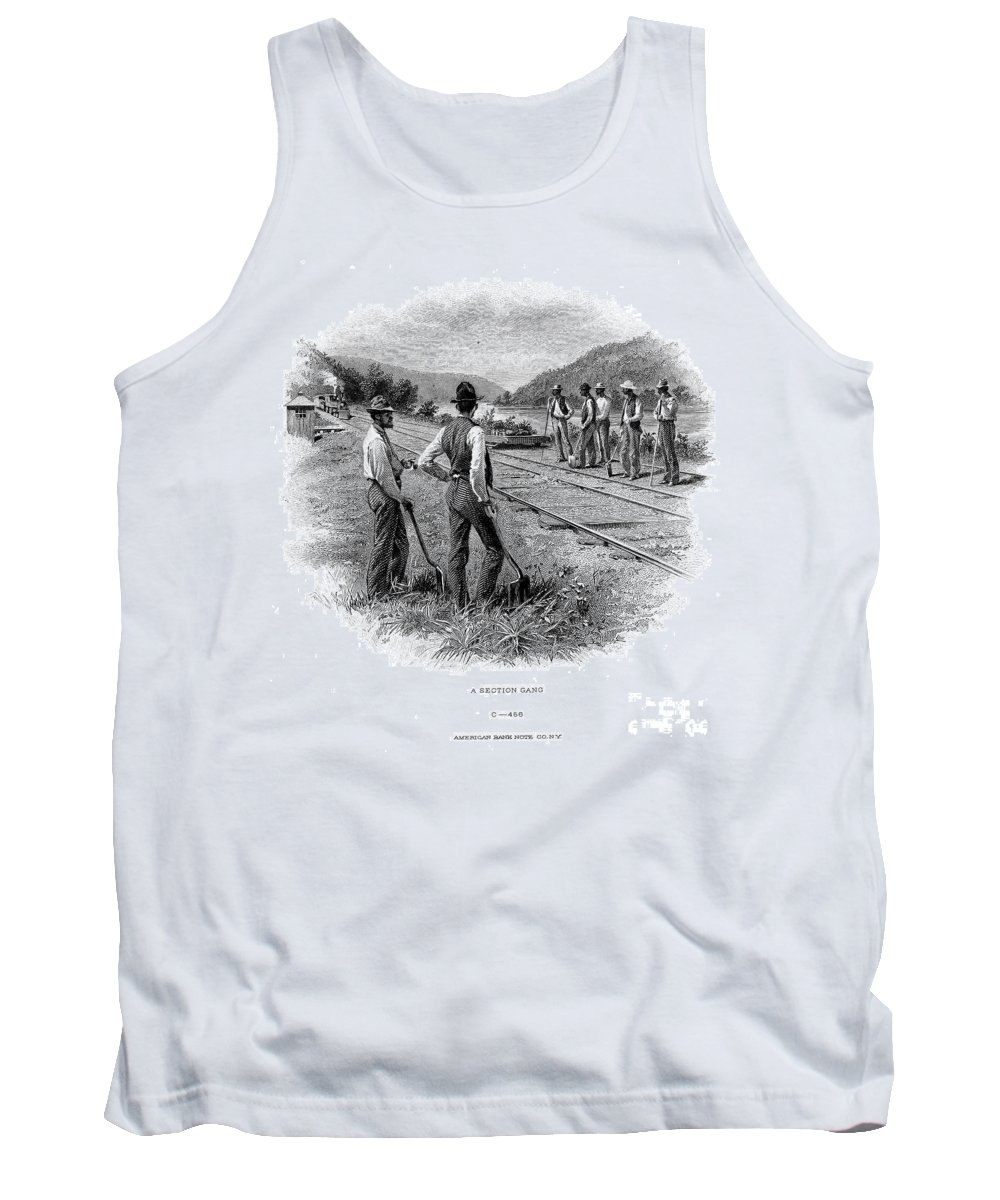 1870 Tank Top featuring the photograph Railroad Construction by Granger