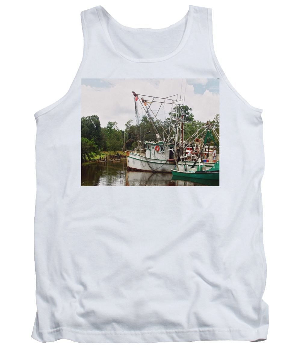 Alabama Photographer Tank Top featuring the digital art Safe Harbor Lil Arthur by Michael Thomas