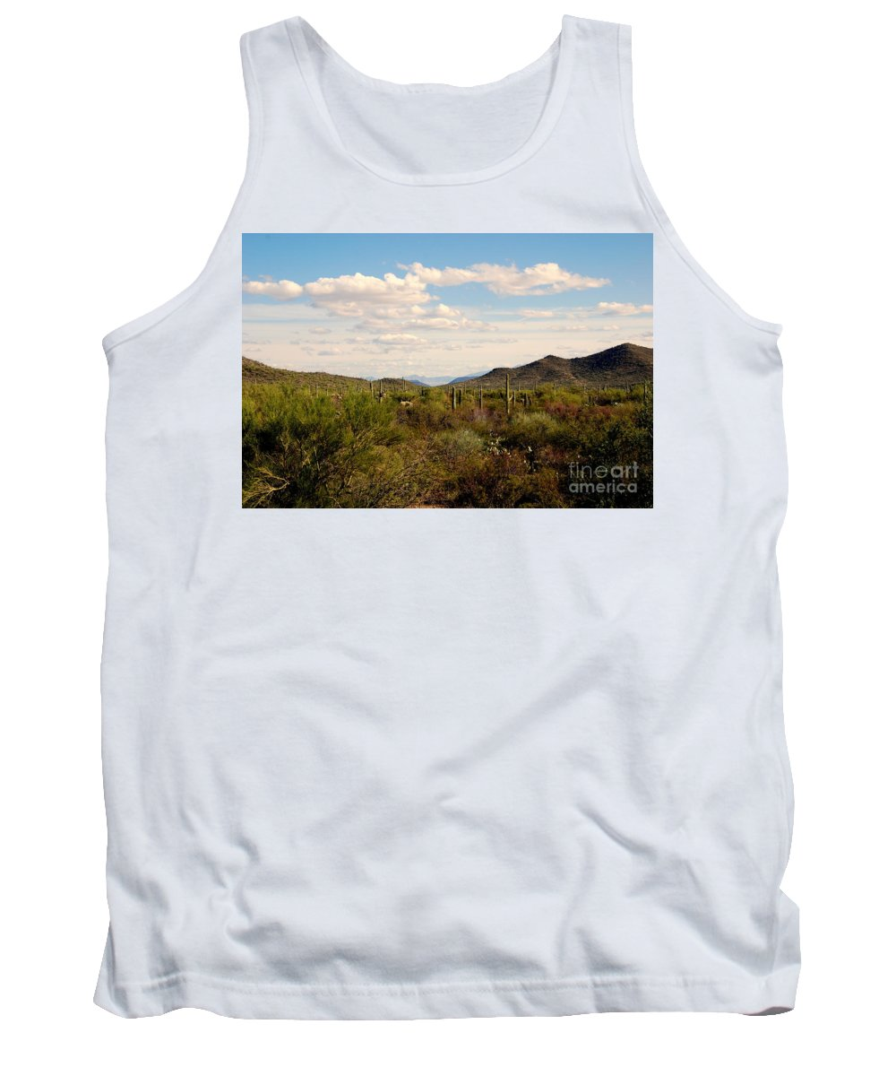 Saguaro National Park Tank Top featuring the photograph Saguaro National Park Az by Susanne Van Hulst
