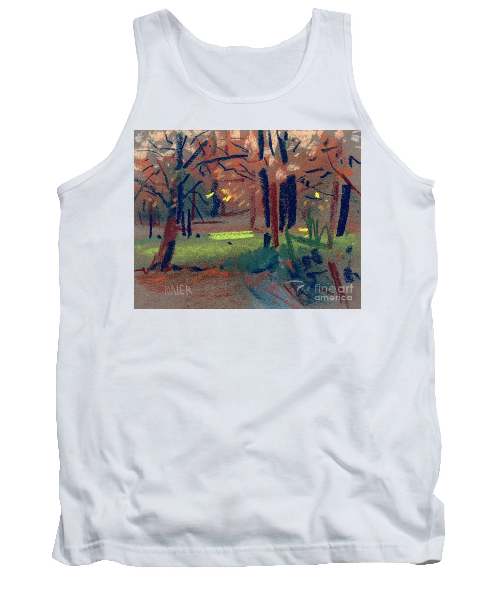 Pastel Tank Top featuring the painting Spring Meadow by Donald Maier