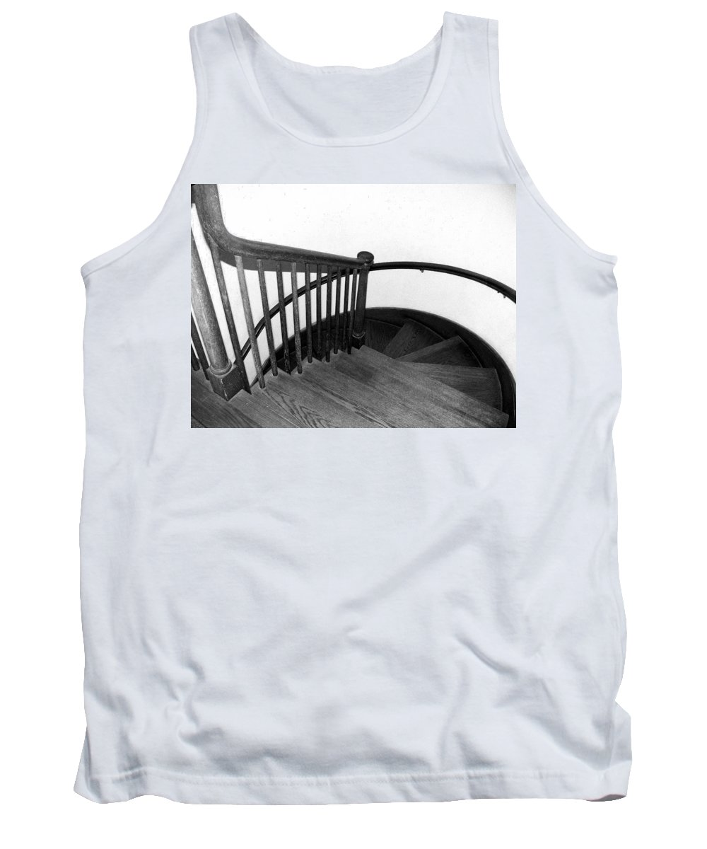 Stair Stairway Spiral Architecture Step Bannister Tank Top featuring the photograph Stairway To Somewhere by Kevin Fortier