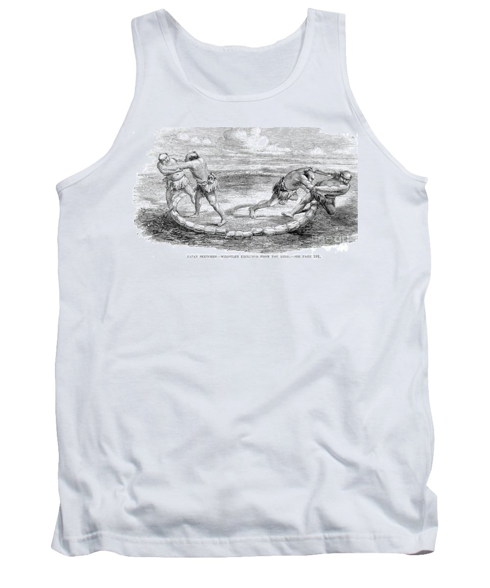 1853 Tank Top featuring the photograph Sumo Wrestling, 1853 by Granger