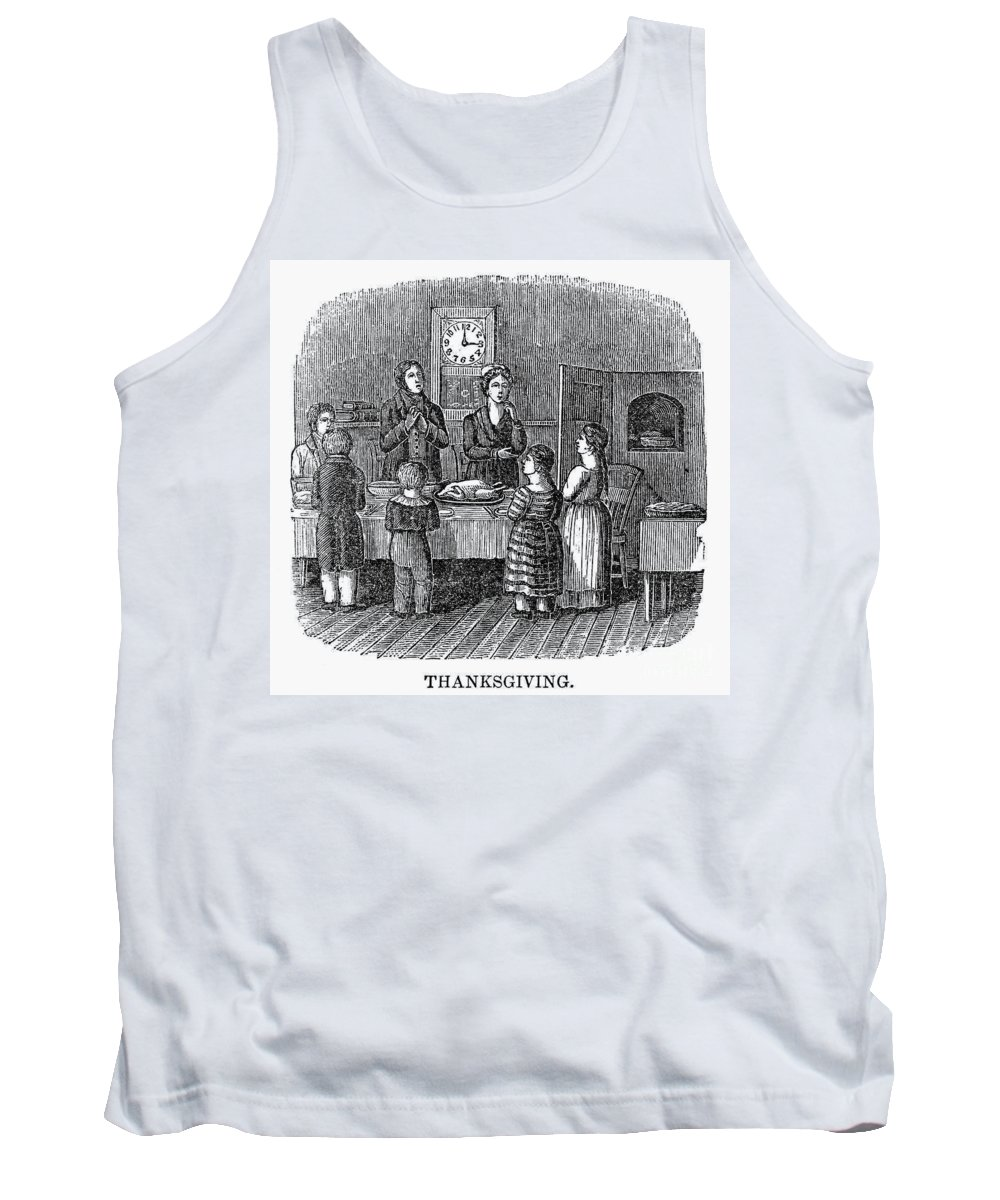 1853 Tank Top featuring the photograph Thanksgiving, 1853 by Granger