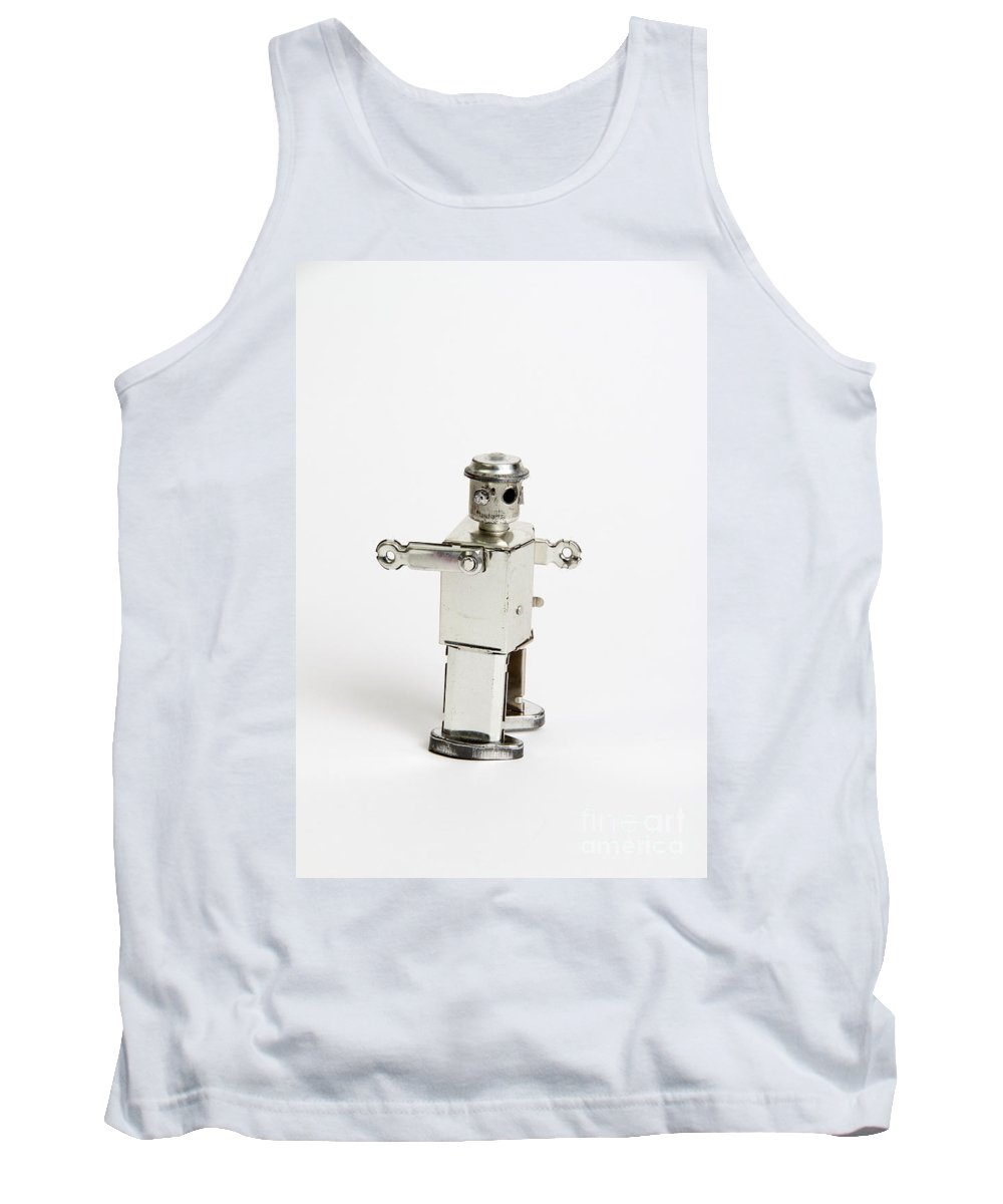 Tin Toy Tank Top featuring the photograph Toy Robot by Photo Researchers, Inc.