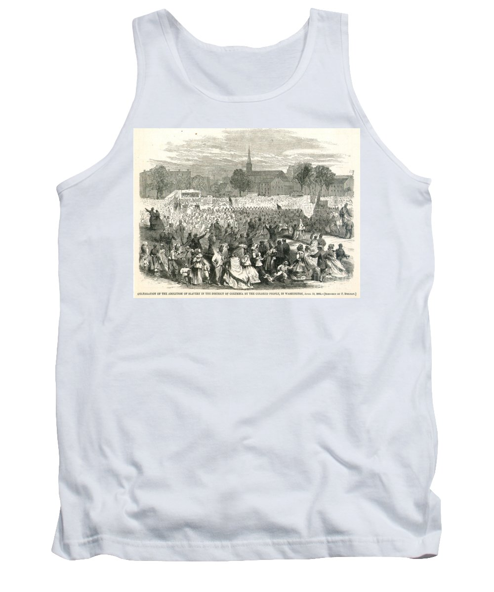 1866 Tank Top featuring the photograph Washington: Abolition, 1866 by Granger