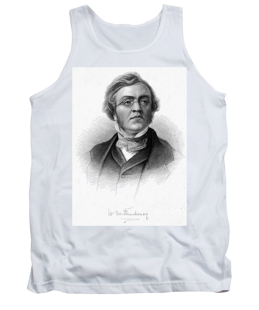 19th Century Tank Top featuring the photograph William M. Thackeray by Granger