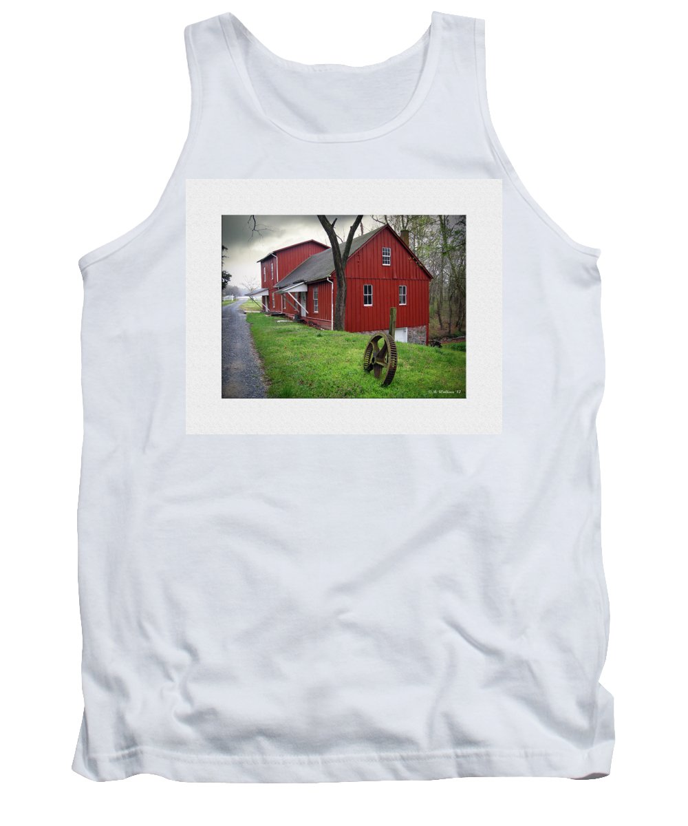 2d Tank Top featuring the photograph Williston Mill by Brian Wallace