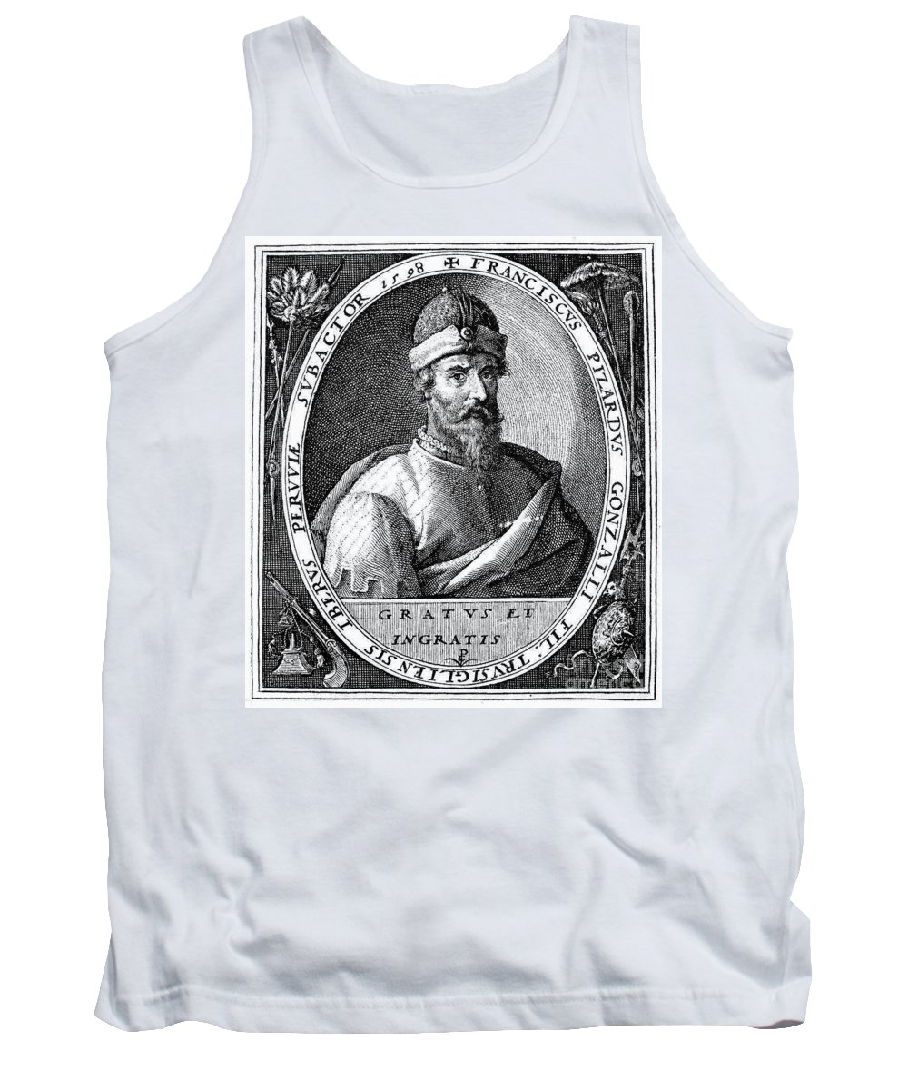 16th Century Tank Top featuring the photograph Francisco Pizarro by Granger