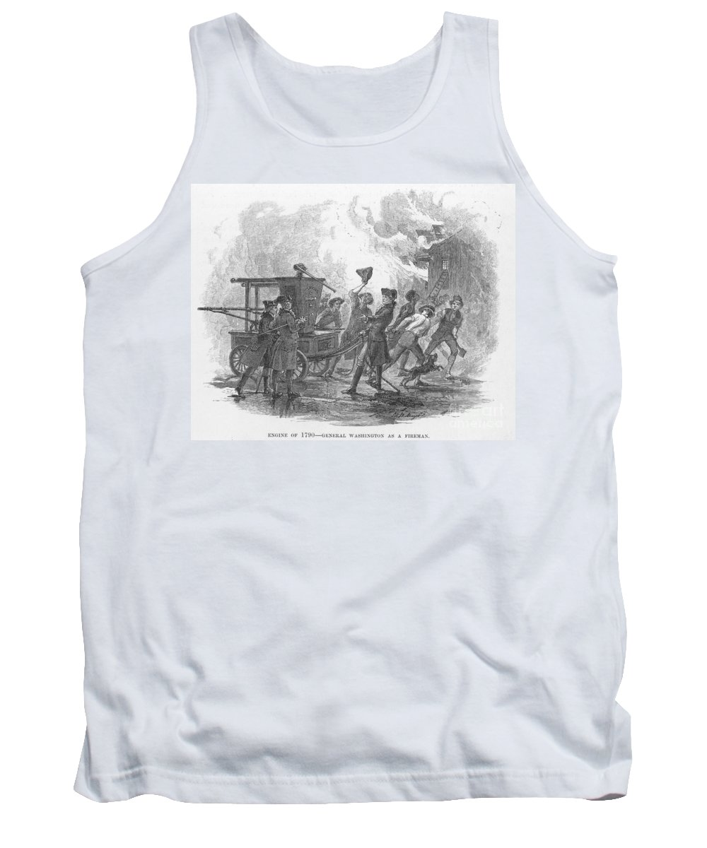 18th Century Tank Top featuring the photograph George Washington by Granger