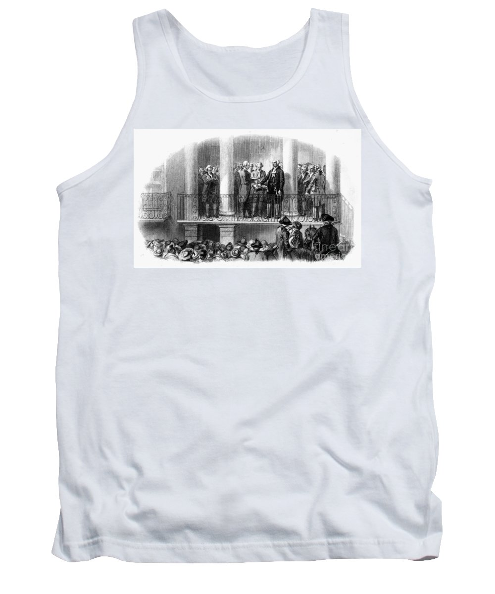 1789 Tank Top featuring the photograph Washington: Inauguration by Granger