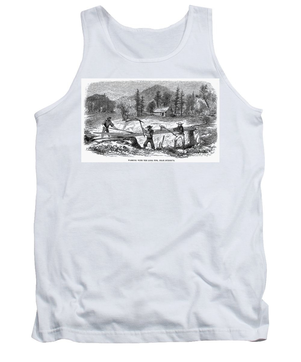 1850s Tank Top featuring the photograph California Gold Rush by Granger