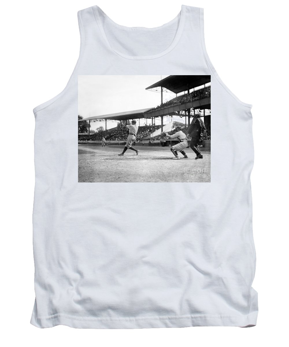 1920 Tank Top featuring the photograph George H. Ruth (1895-1948) by Granger