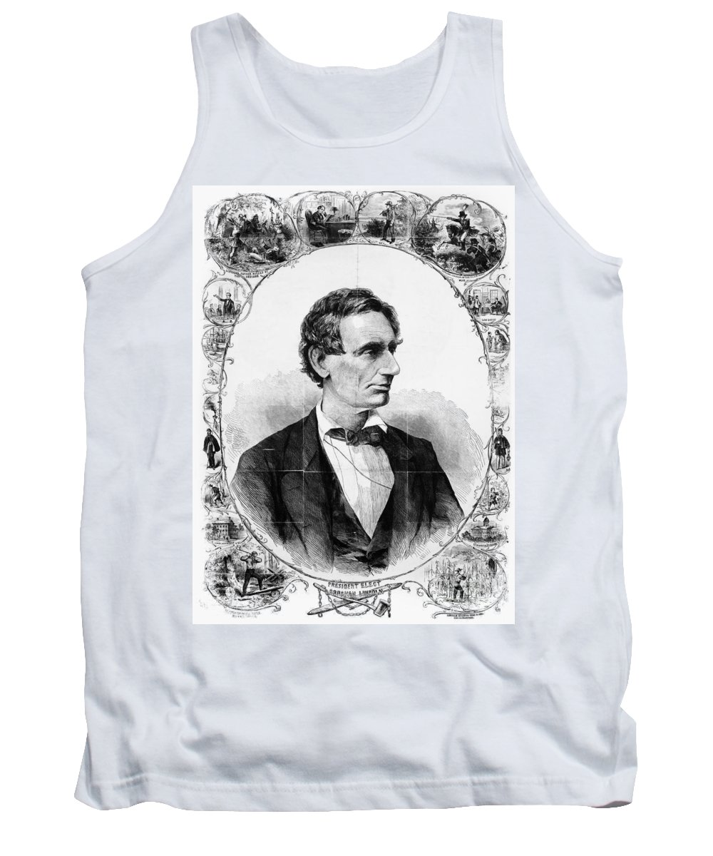 1860 Tank Top featuring the photograph Abraham Lincoln by Granger