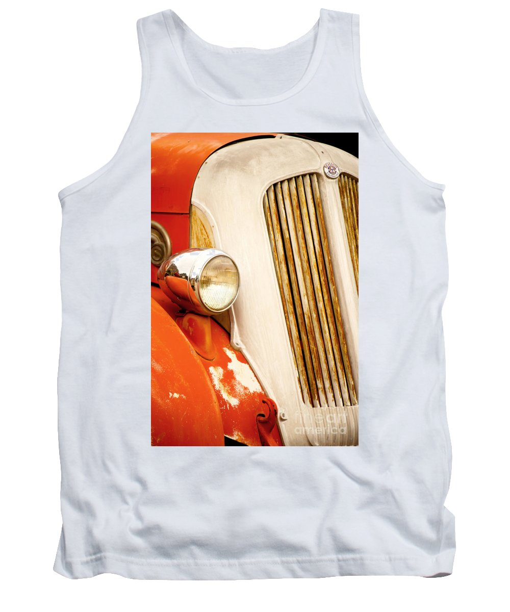 Fine Art Tank Top featuring the photograph 1940's Seagrave Fire Engine by Donna Greene